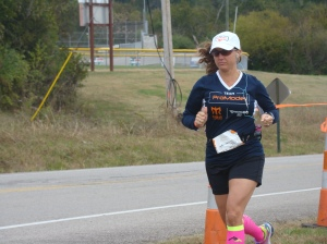 Cori Wilkerson runs through the Tennessee hill country