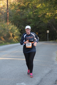 Susan Whitehead pushes up hill as Team ProModel makes its way through the Tennessee mountains!