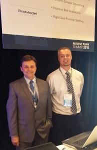 ProModels (L) Kurt Shampine, VP and (R) Dan Hickman, CTO – unveiling Pateint Flow Rx!