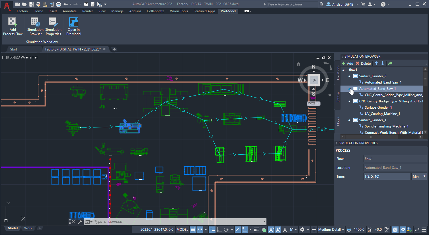 ProModel Layout in AutoCAD